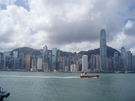 Skyline von Hong Kong Island.