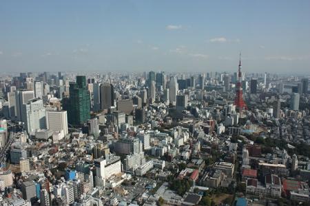 Panorama mit Tokyo Tower
