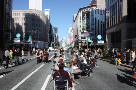 Sünnele in Ginza