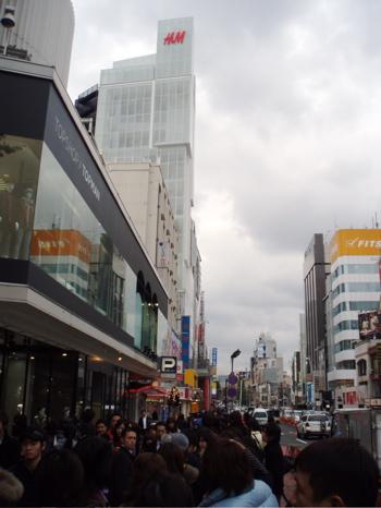 Von hier auch ging die Schlange bis zum H&M Hochhaus