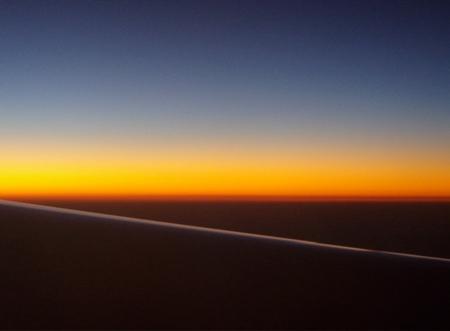 Und heute Abend über dem Pazifik.