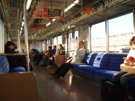 Auf dem Rückweg mit der Keiyo Line.