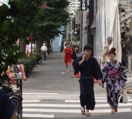 Strassenszene in Tokyo.